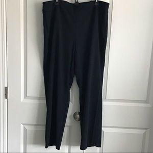 Roz & Ali navy blue plus pull on dress pants